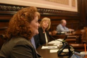 Senator Murphy in a committee hearing